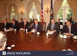 George Bush Cabinet United States President George W Bush Briefs Members Of Congress