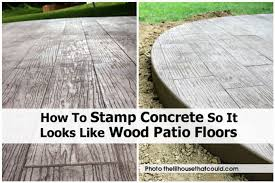 Wood Patio Flooring by Stamp Concret Thelilhousethatcould Com 10 Jpg