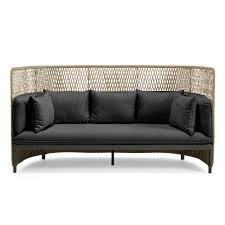 high back sofa ethimo esedra 3 seater high back sofa grey houseology