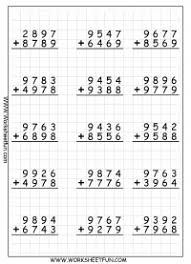 4 digit addition with regrouping u2013 carrying u2013 9 worksheets free