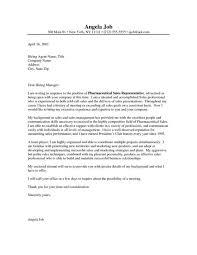Pharmaceutical Resume Sample Cover Letter For Sales Representative