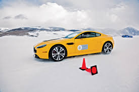 slammed aston martin drift like james bond at the aston martin winter driving