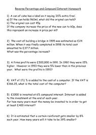 compound interest practice worksheet worksheets releaseboard