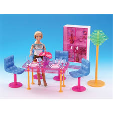 barbie dining room miniature furniture fashion dining room for barbie doll house