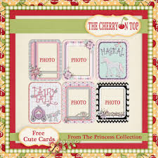 free cards using the princess collection insert your own own