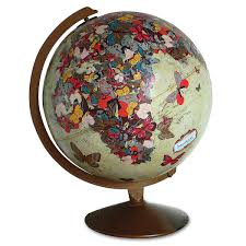 butterfly globe sculpture geography world map wendy gold
