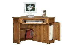 southern enterprises corner desk mission oak computer desk style with hutch quarter intended for