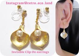 gold clip on earrings clip earrings that are invisible painless comfortable to wear