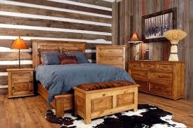 Rustic Wooden Bedroom Furniture - rustic oak bedroom furniture diy cream polished wooden king size