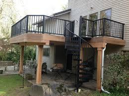 aluminum deck railing installation doherty house aluminum deck