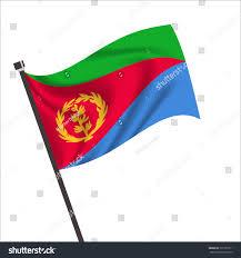Crossed Flag Pins Flag Eritrea Eritrea Icon Vector Illustrationnational Stock Vector