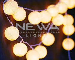 20 beige cotton ball fairy lights indoor string lights warm