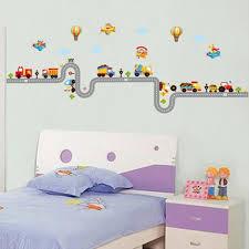 stickers voiture pour chambre garcon mural maison decor enfants stickers muraux voitures sur la route