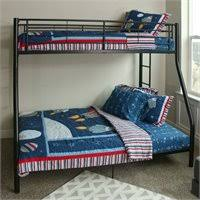 Walker Edison Sunset Metal Twin Over Futon Bunk Bed Frame In Black - Walker edison twin over full bunk bed