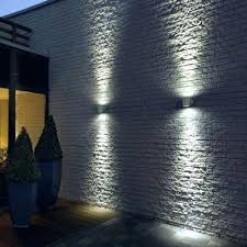 patio wall lights contemporary garden outside solar with cove