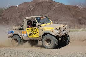 jeep suzuki suzuki sj jeep at offroad rally competition stock photo picture