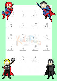 math worksheets u2013 2 digit by 1 digit multiplication 3