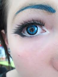 light blue cosplay contacts contact lenses light blue and black annuals japan attitude