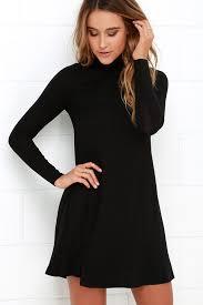 black dress chic black dress swing dress sleeve dress 38 00