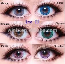 popular eos korea contact lens luna ice ii cosmetic cheap free