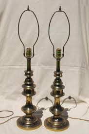 Vintage Brass Table Lamps Mid Century Vintage Stiffel Style Table Lamps W Polished Antique