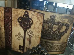 crown decor crown and key decor stands treasures found here