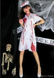 2016 new arrival halloween costumes for women bloody awful nurse