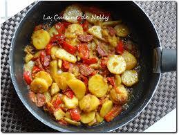 poivron cuisine poêlée de pommes de terre poivron fenouil au chorizo et