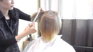 fixing bad angled bob haircut dry cut tutorial by mika fowler how to fix a bad haircut youtube