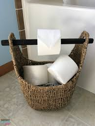 Toilet Tissue Holder by Diy Toilet Paper Holder Must Have Mom
