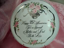 25th anniversary plates vintage 25th anniversary for and silver anniversary