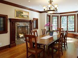 craftsman dining room with window seat u0026 bay window in stamford