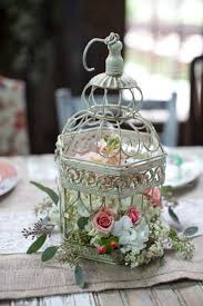 How To Decorate A Birdcage Home Decor Wedding Birdcage Table Centerpiece 20 Flower Birdcage Decorations