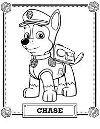 disegni paw patrol da colorare