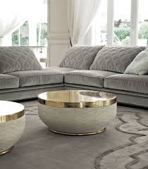 Designer Coffee Tables by Contemporary Coffee Table Metal Leather Fiberglass Godwin