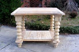 Unfinished Pedestal Table Furniture Unfinished Table Top Pine Side Table Unfinished