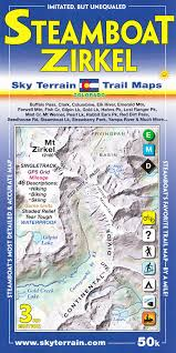 steamboat springs mount zirkel co topographic recreation map for