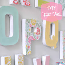 How To Make Home Decor How To Make Your Own Letter Wall The Love Nerds