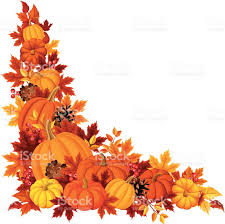 halloween autumn background corner background with pumpkins and autumn leaves vector
