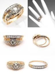 yellow gold wedding ring sets antique yellow gold wedding ring sets the wedding specialiststhe