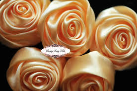 satin roses apricot 2 inch satin rolled by simplysassysource on zibbet