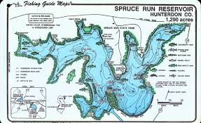 Run Map Spruce Run Fishing Guide Map Mark Evans Maps