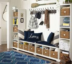 samantha 4 piece bench u0026 bookcase entryway set antique white