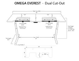 Standing Desk Posture by Omega Everest Stand Up Desk With Built In Steadytype Keyboard Tray