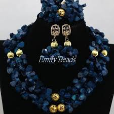 navy jewelry gorgeous navy blue coral necklace set