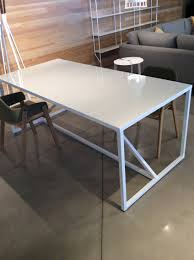 Chair Good Blu Dot Modern Blue Metal Dinin by Lg Blu Dot Strut Table In White Work Table Or Dining Table My