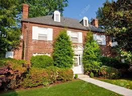 rgian colonial style brick single family house washington dc stock