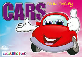 colouring book cars tinsley colin book icm books