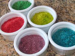 how to make sugar sprinkles diy colored sugar edible glitter youtube