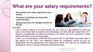 examples salary requirements top 10 interview questions and answers
